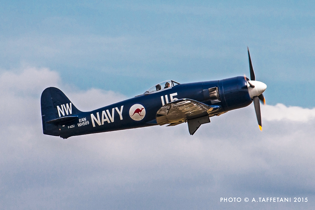Christophe Jacquard's magnificent Hawker Sea Fury FB.11. (photo by Alessandro Taffetani)