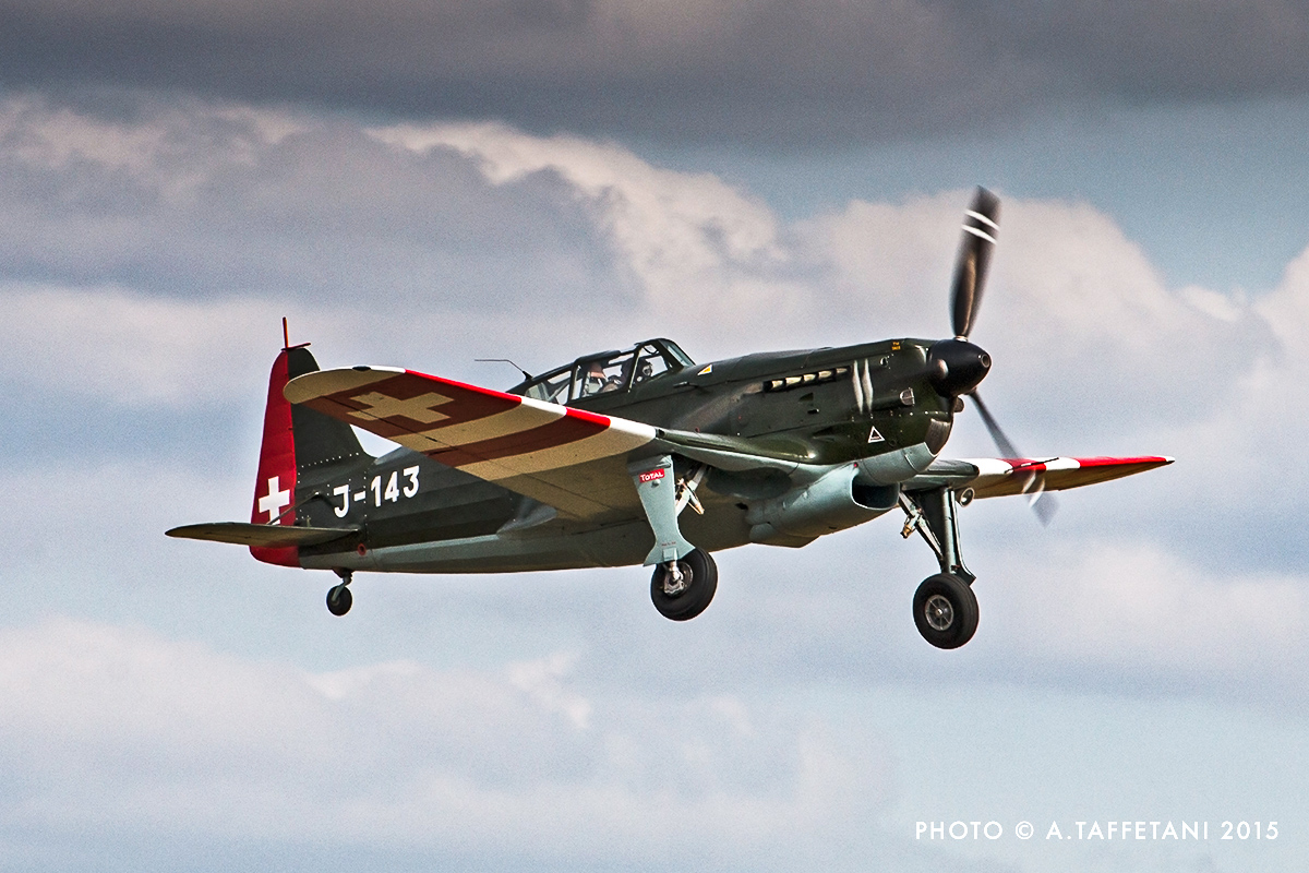 The uniquely airworthy Swiss-built Morane Saulnier MS-406 fighter. (photo by Alessandro Taffetani)