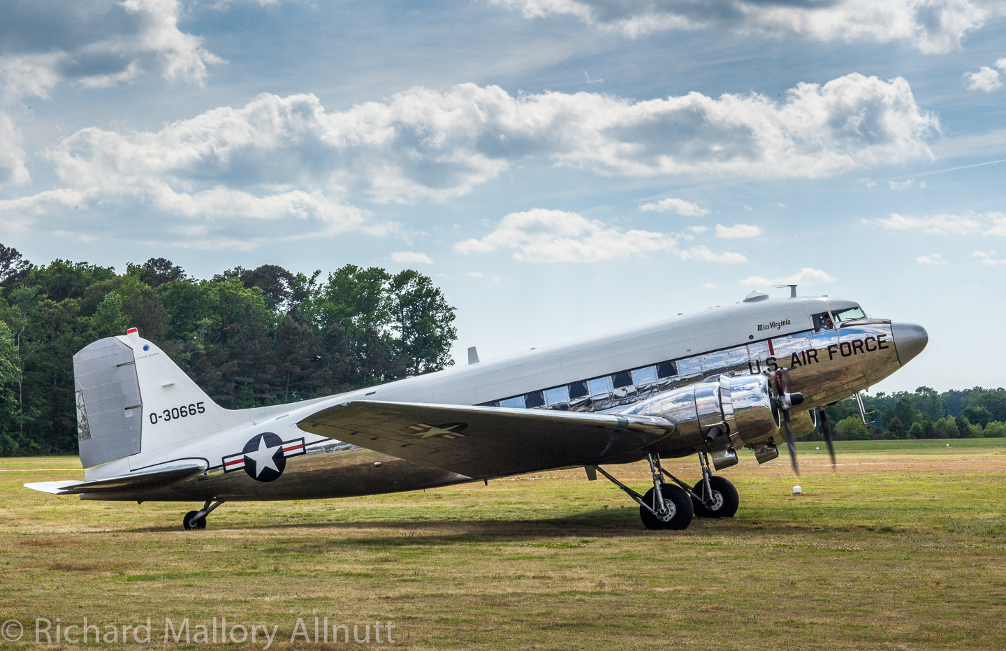 Dynamic Aviation's C-47 participated in the Military Aviation Museum's Warbirds Over the Beach air show in May, 2014. She is a marvelous example of what the company could do with Columbine II. (photo by Richard Mallory Allnutt)