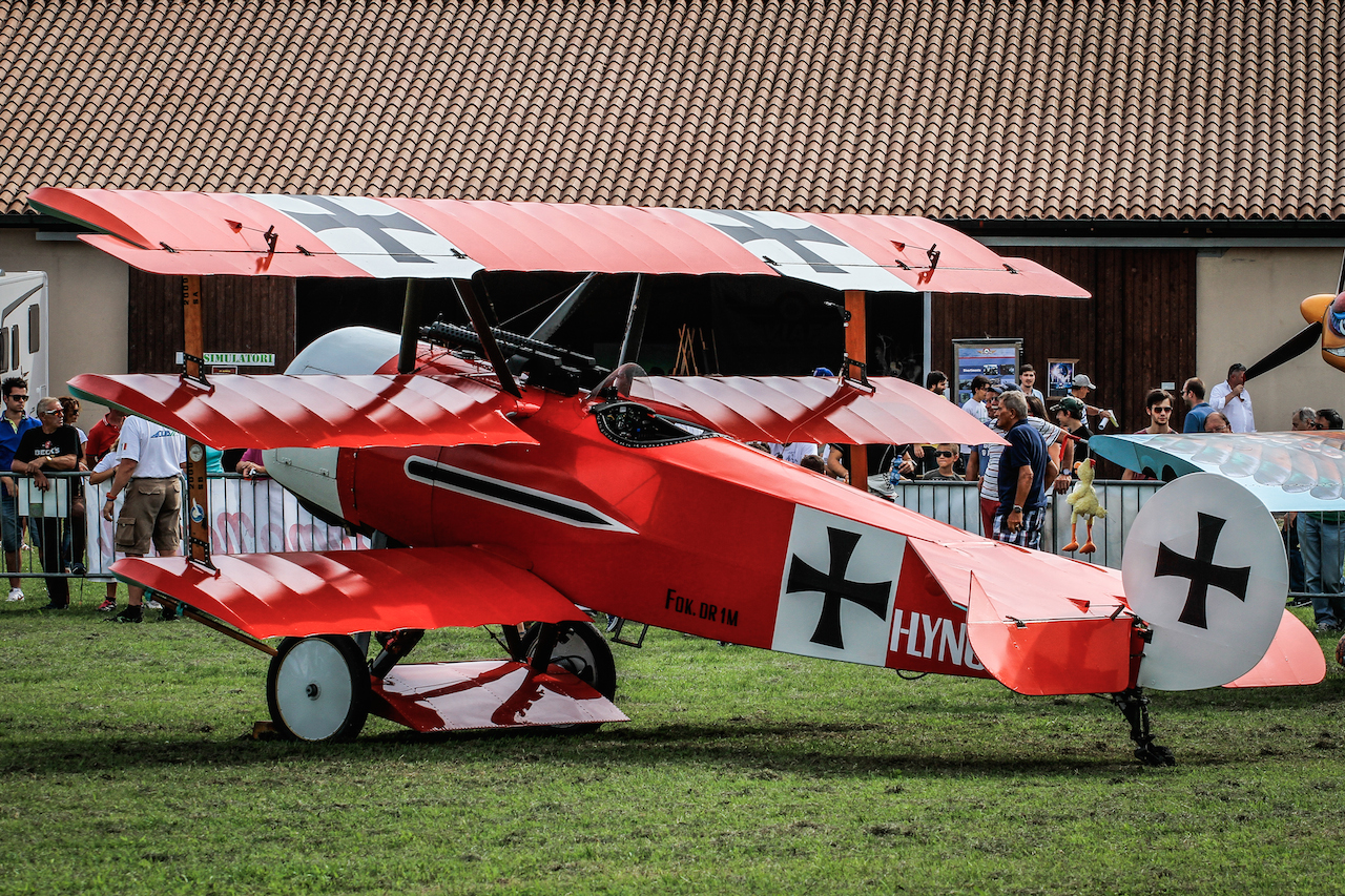 Zanardo's beautiful Fokker DR.I replica built between 1984 and 1986 after 4500 working hrs.