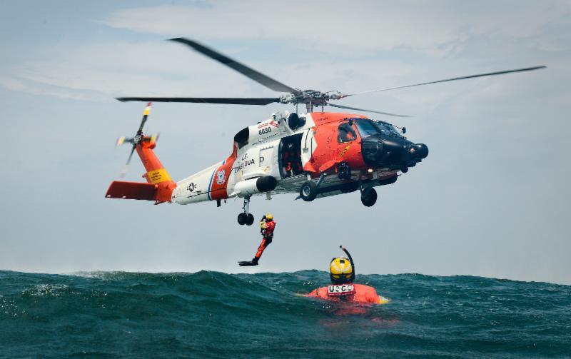 MH-60 Jayhawk. USCG photos.