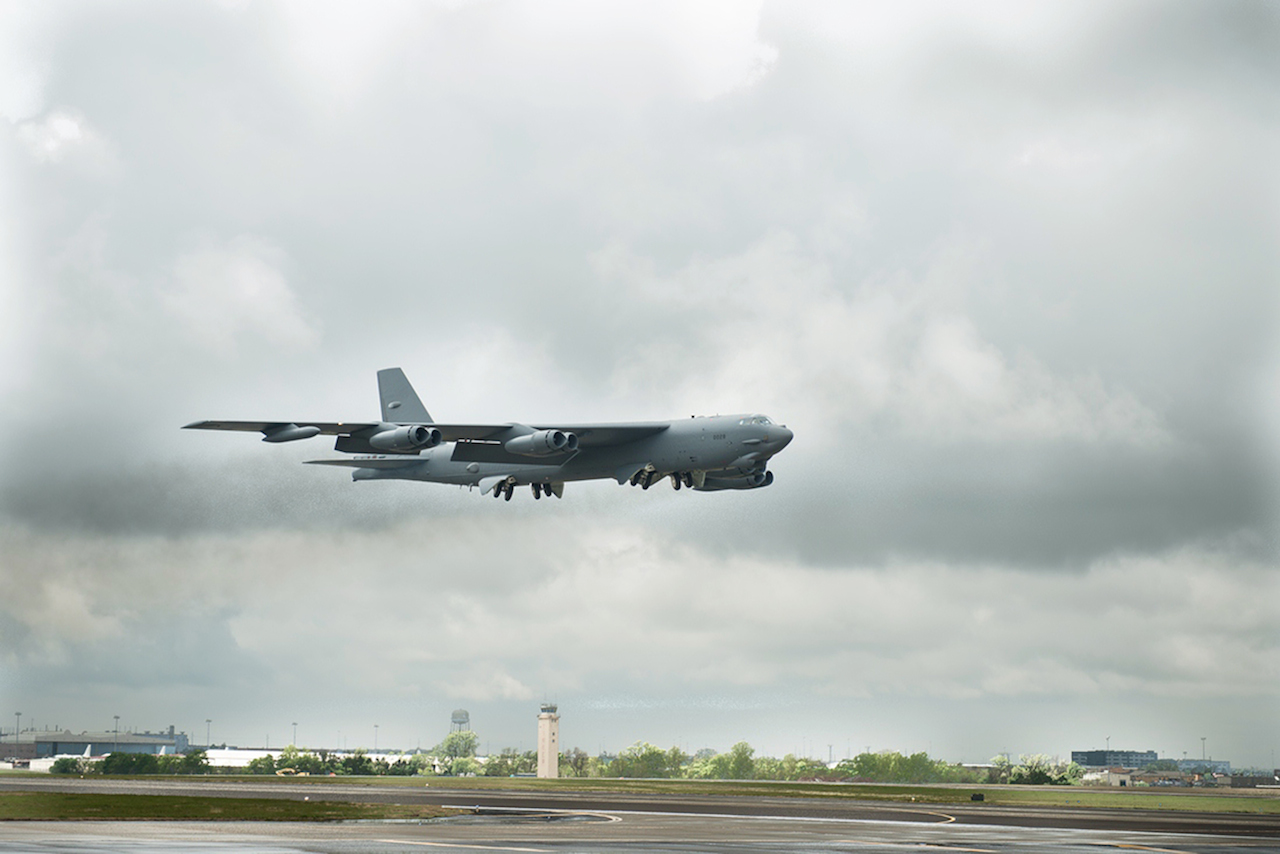Tinker Air Force Base_Oklahoma City_ 1st B-52 with CONECT upgrade delivery to Barksdale AFB_04/21/2014_RMS# 264598
