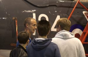 Lieutenant Commander Matt Whitfield talks to the many fans who participated to the event.(Image credit Andy Rodgers)