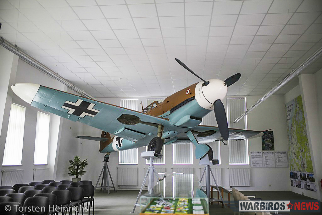 The 'Bf-109' on display in Rechlin. (photo by Torsten Heinrichs via Philipp Prinzing)