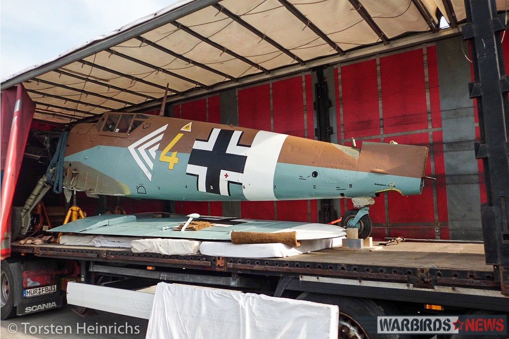 The 'Bf-109' in the truck from her former home in Gatow. (photo by Torsten Heinrichs via Philipp Prinzing)