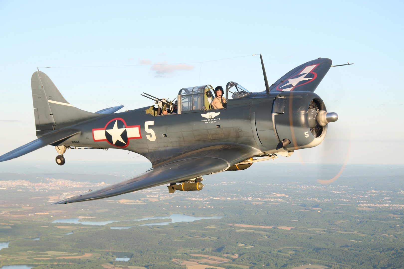 The DIxie Wing SBD-5 Dauntless - Photo by Steve Chapis