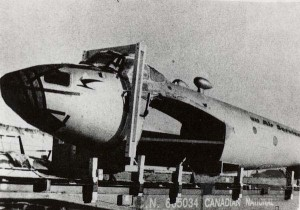 Mosquito arrives by rail from Ottawa (image Credit: Calgary Aero Space Museum)