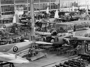Mosquitos in production in Leavesden, UK.