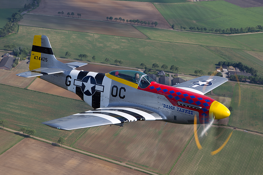 The original P-51D Mustang s/n 44-45195 'Damn Yankee' was flown by Capt. Bobby Childers  of the 359th FS, 356th FG