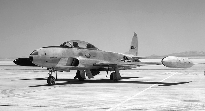 NASA Photo circa 1961 of T-33A-LO-1 49-0933 which rolled of the Lockheed assembly line just 28 examples after 49-0905 which Gentile flew on his final flight. (photo via NASA archives)