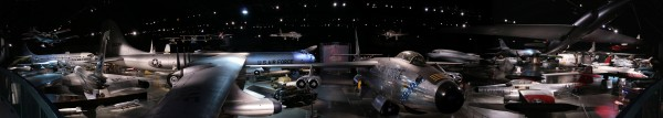 Panorama of the Cold War exhibit at the National Museum of the United States Air Force. Stitched from four separate images.( Photo by Greg Hume)