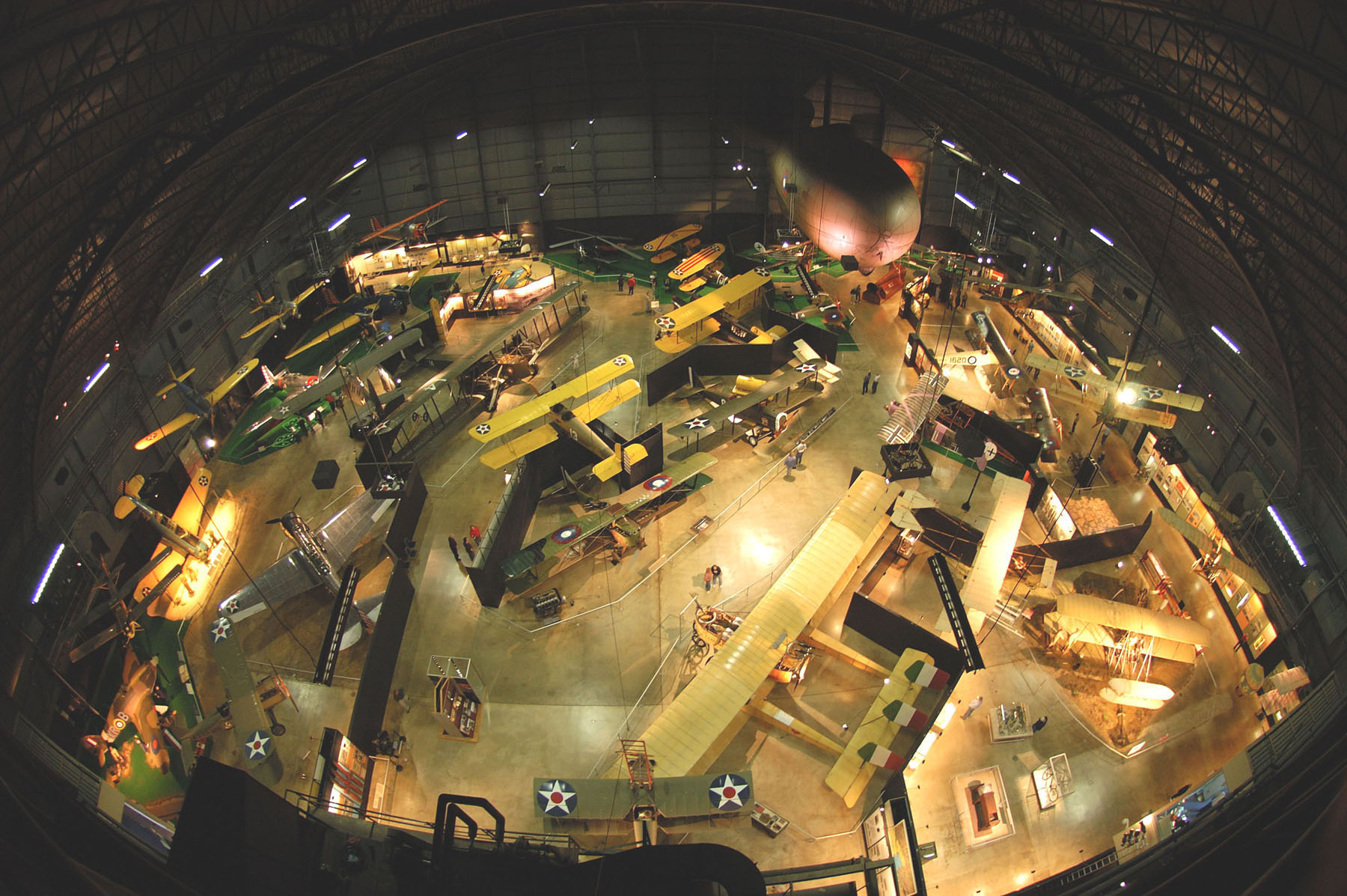 The museum's Early Years Gallery conveys the magic and wonder of the formative days of military air power.