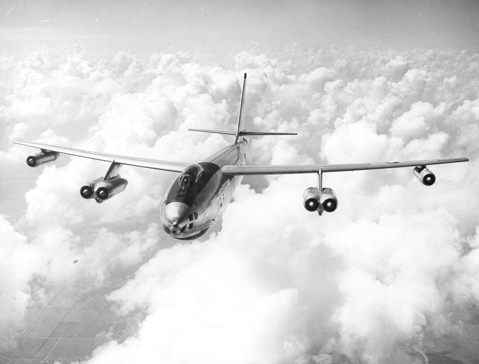 Accordingly to Bpeing The Boeing B-47 was the country's first swept-wing multiengine bomber. It represented a milestone in aviation history and a revolution in aircraft design. Every large jet aircraft today is a descendant of the B-47.
