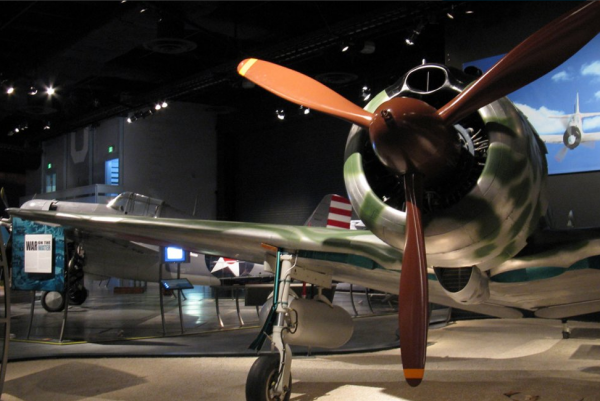 The Nakajima Ki-43 Hayabusa displayed at the Museum Of Flight in Seattle.