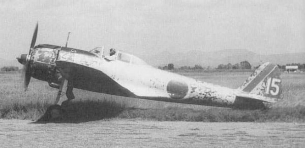 A Japanese Nakajima Ki-43-II Hayabusa fighter.( IMage credit PD-JAPAN-OLDPHOTO via Wikepedia)