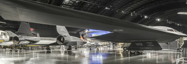 The gallery's aircraft collection presents a broad range of platforms, such as fighters, long-range bombers, attack aircraft, reconnaissance, heavy airlift and trainers. Modern aircraft on display include the world's only permanent public display of a B-2 stealth bomber.