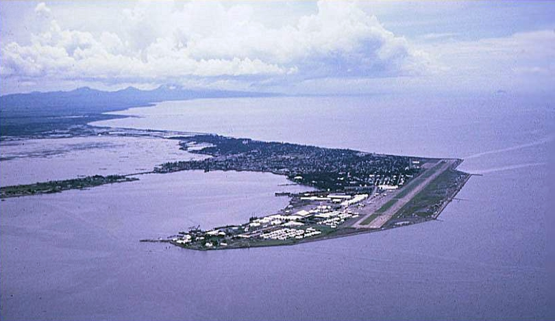Naval Station Sangley Point, as seen from the air in 1964. (photo via Wikipedia)