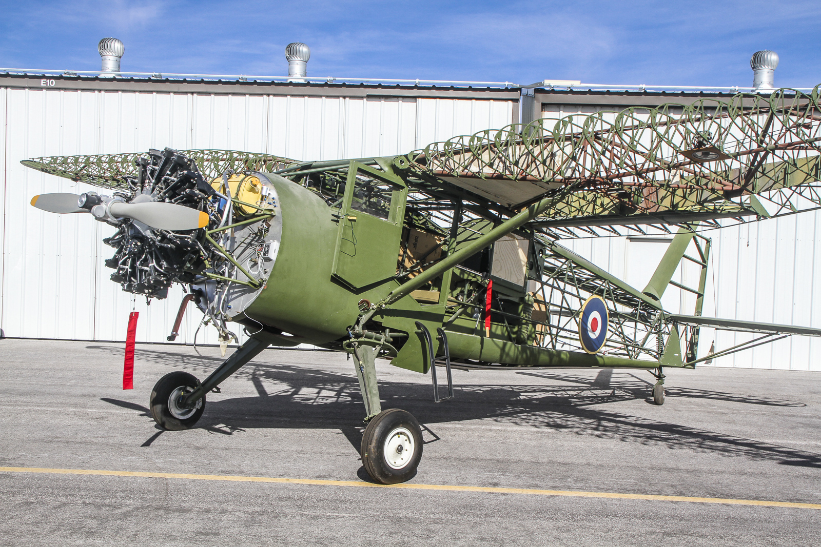 The CAF Nevada Wing's Stinson AT-19 Reliant is making great strides towards her first flight. (photo via CAF Nevada Wing)