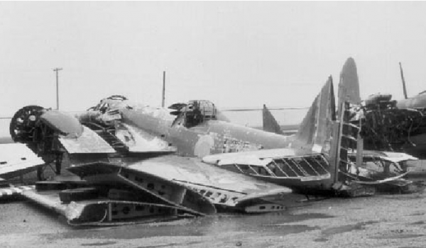 Remains of eight Bolingbrokes shown in this picture from the 80s, destined to become an airworthy warbird once again. (Image Credit: Norm Malayney/ Canadian Warplane Heritage Museum)