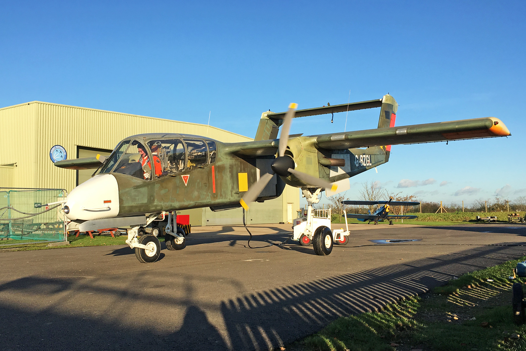 The first post-restoration flight of OV-10B 99+26 which took place last Wednesday at Duxford. (Photograph by Jessie De Cooman)