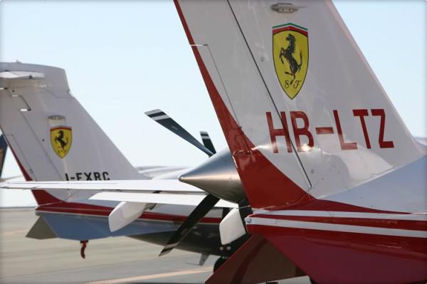Two P-180 Avanti II of Scuderia Ferrari. ( Image Piaggio Aero)