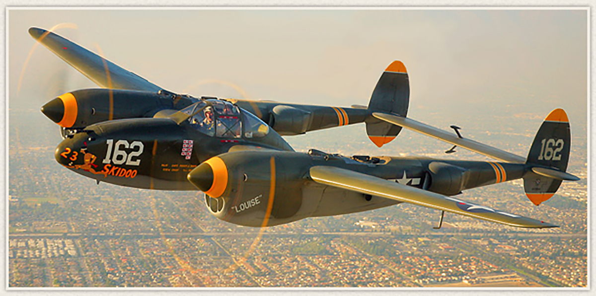 Planes of Fame's Lockheed P-38 Lightning. (photo via Planes of Fame)