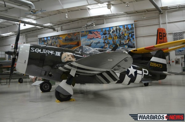 "The Museum's Thunderbolt is from the Robert J. Pond collection and has been restored to flying condition. It displays the nose art ""Squirt VIII"