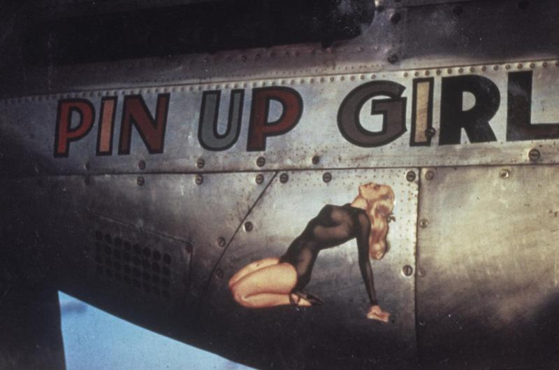 props and pin ups in world war ii and it s just not girls in bikinis. Black Bedroom Furniture Sets. Home Design Ideas