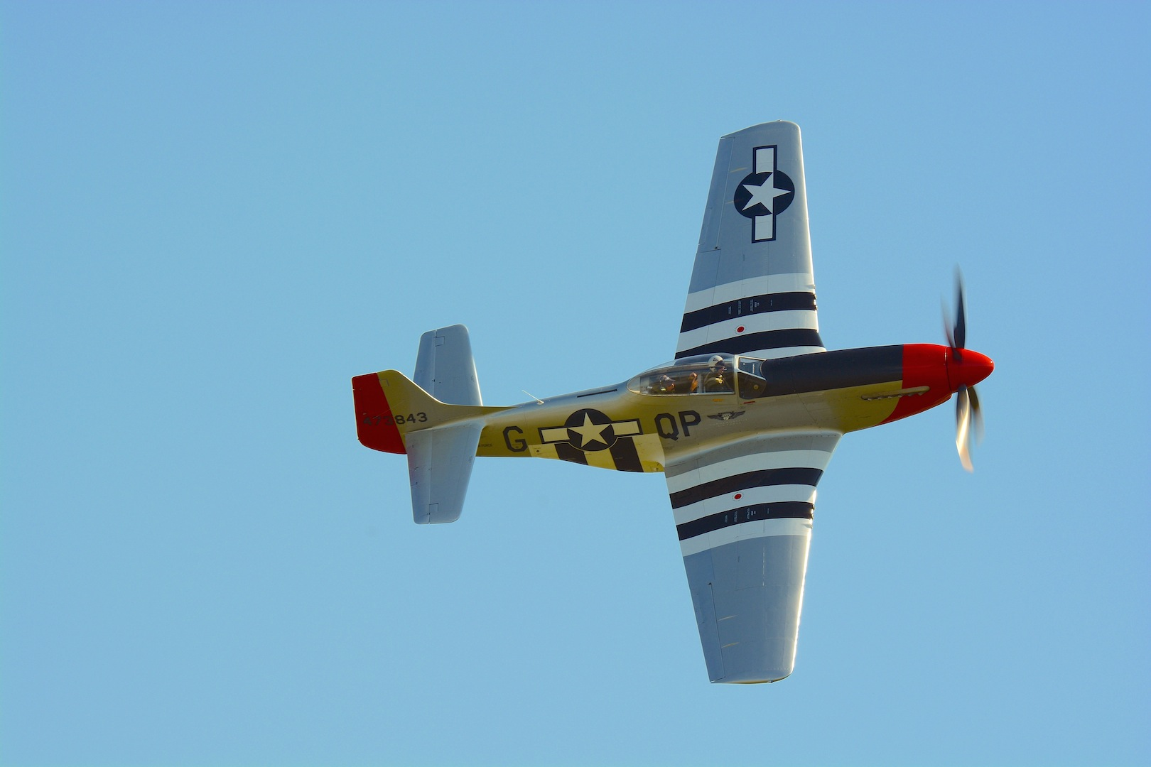 "The CAF Dixie WIng's P-51D ""Red Nose"" is the first airplanes purchased by the CAF in 1957 for $ 2,500. IMage by Warbirds News"