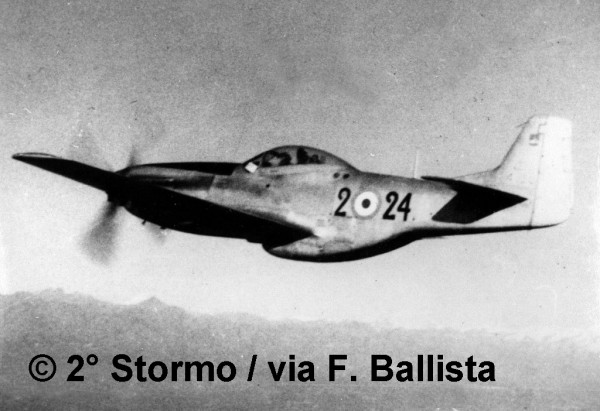 The Mustang  joined the Italian Air Force as F-51 in 1948 to replace the exhausted Spitfires in a fighter role.