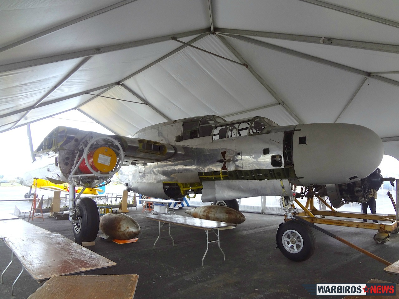 The P-61 Black Widow how it looked like in June 2103. Accordingly to the museum's director Russ Strine the aircraft looks the same now as they are working on the internal systems.