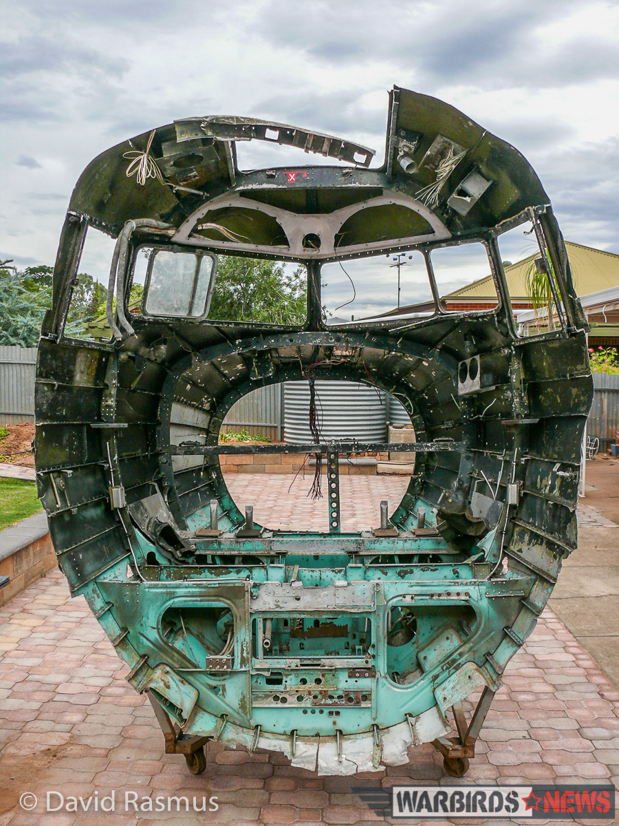 Combat veteran C-47/Dakota cockpit section as it was recovered. It's now under restoration with Dave Rasmus in Australia. (photo via Dave Rasmus)