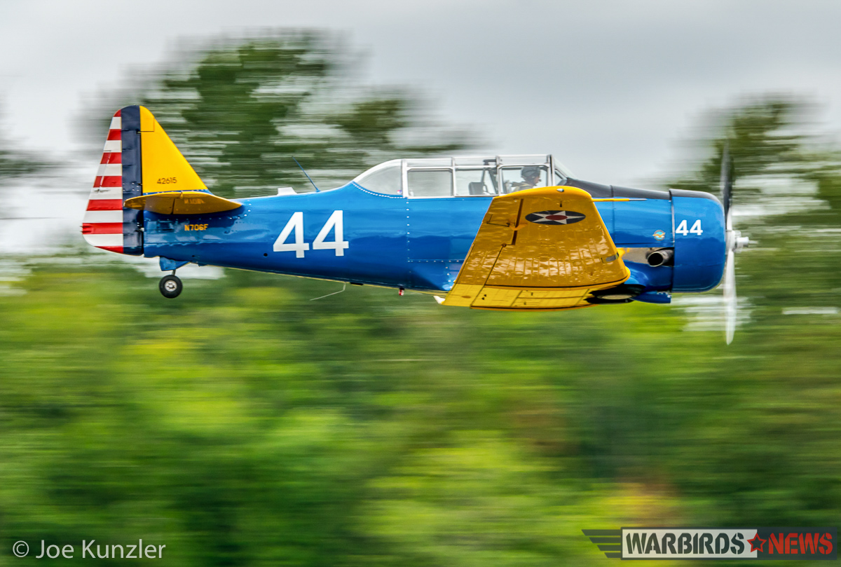 HFM's T-6F flying low approach. (photo by Joe Kunzler)