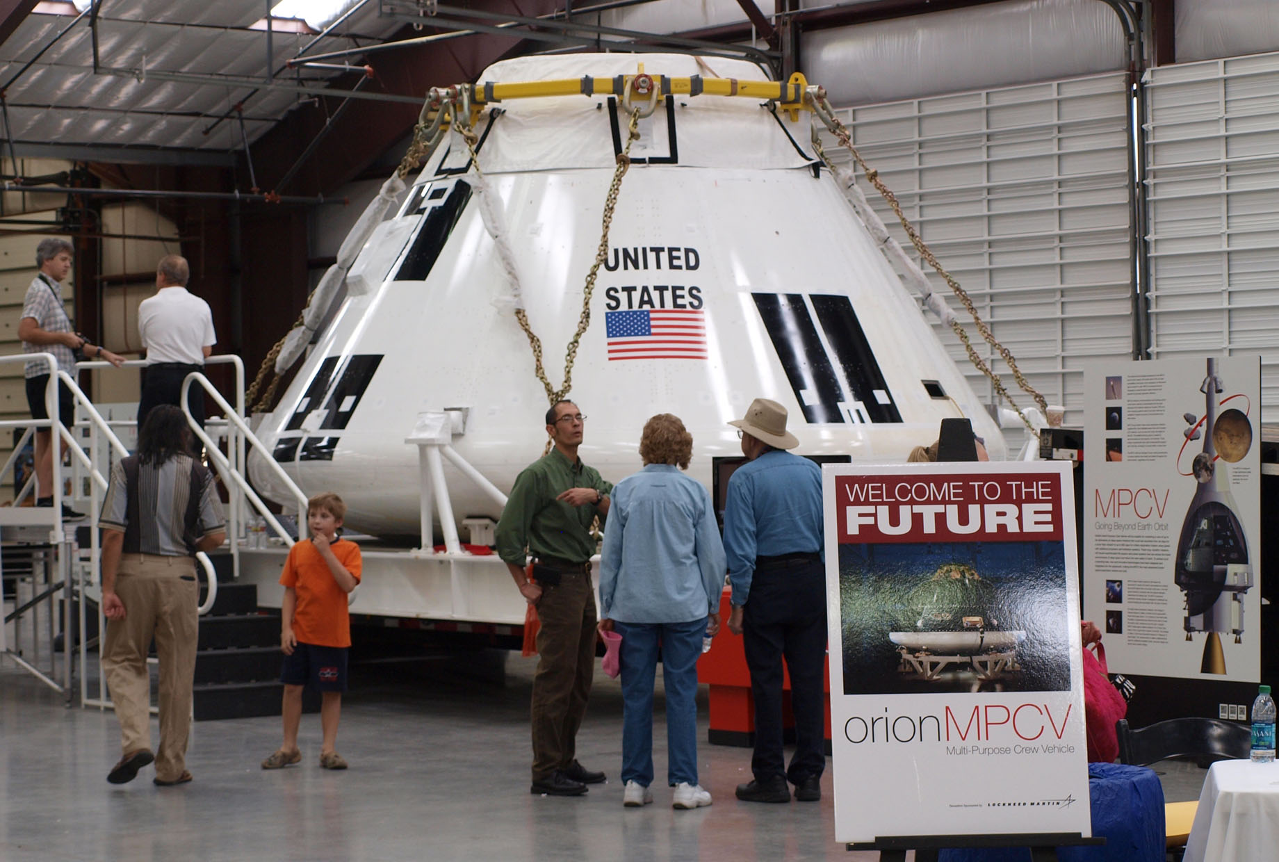 The NASA Orion traveling exhibit at Pima Air & Space Museum during June 2011. Photo by John Bezosky Jr.