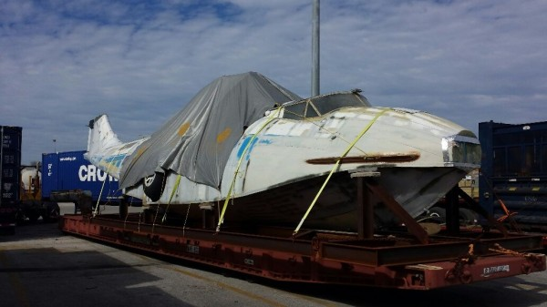 The fuselage of the Catalina in Jacksonville,FL.  ( image credit RCMPA via Phil Buckley)
