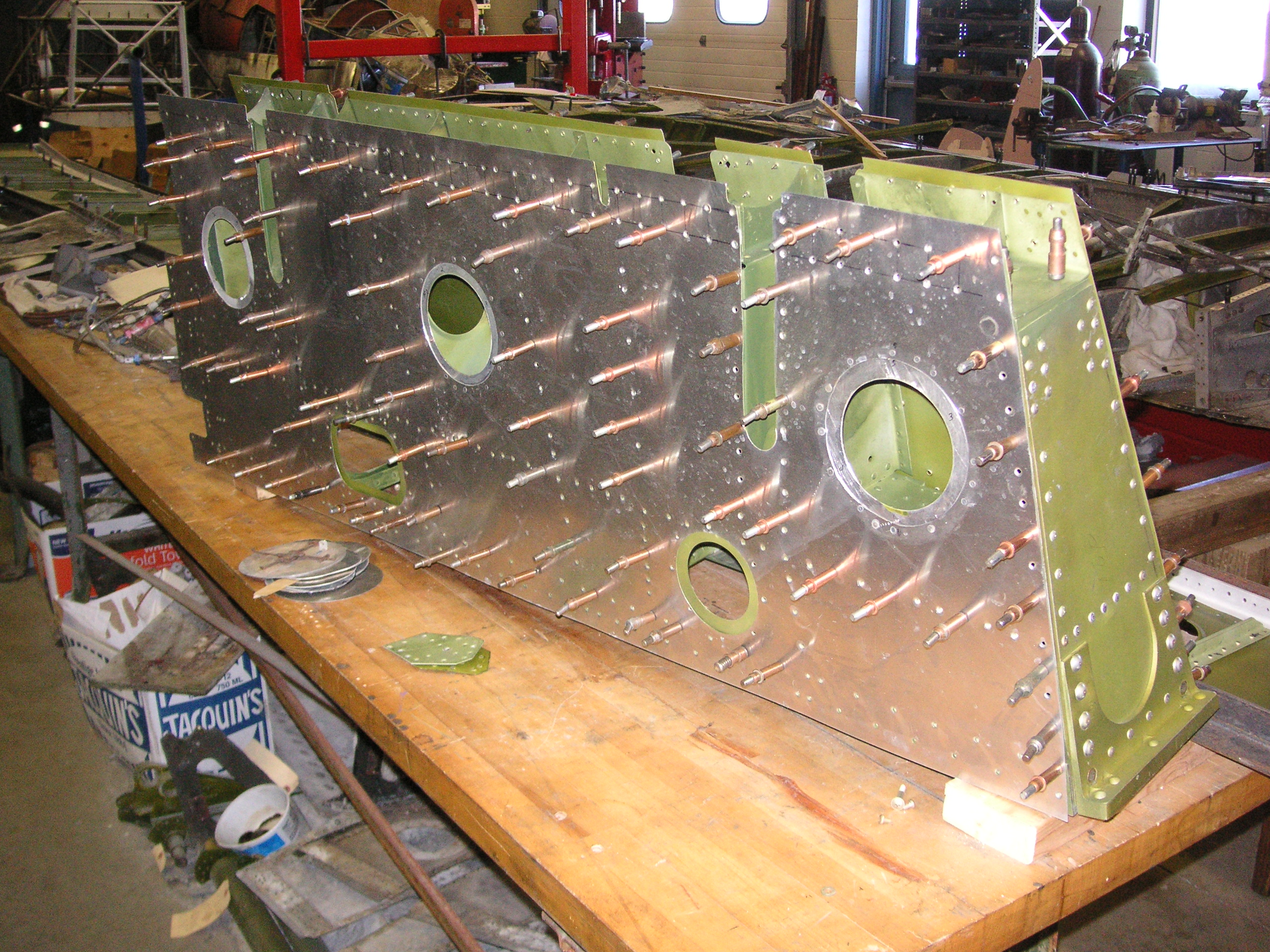 P-61 wing trailing edge section for one of the outer wing panels. (photo via Russ Strine)