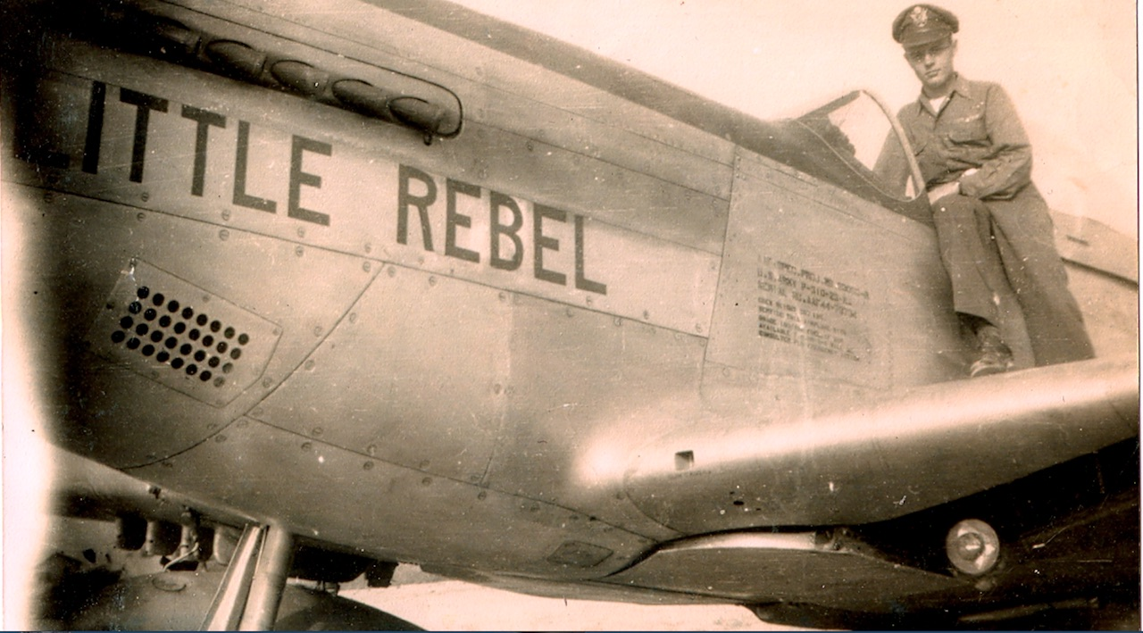 Paul Crawford in his P-51 'Little Rebel' ( photo by Paul Crawford Collection)