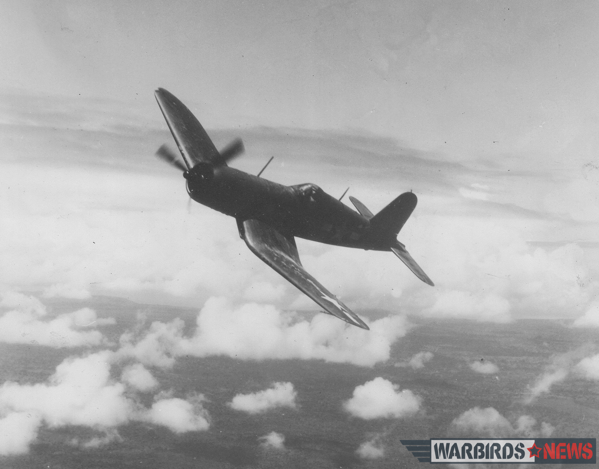 With its distinctive gull wing and long cylindrical fuselage, the F4U Corsair had the visual appeal and panache of a thoroughbred race horse. Combined with its high speed, superb gun package, ruggedness, and external armament options, the Corsair was arguably the best single-engine fighter in the Pacific theater. Many survived combat encounters with extensive damage, yet brought their pilots safely back to base. Photo credit: Bruce Gamble via Frank Walton