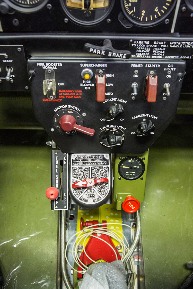 Here we have the pilot's main switch box. (photo via AirCorps Aviation)