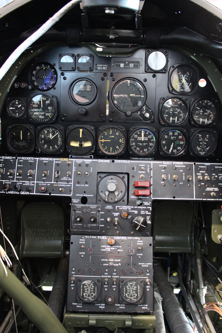 Pilot's instrument panel installed. The loose wires are avionics (radio) wires which still require hooking up. (photo via Tom Reilly)