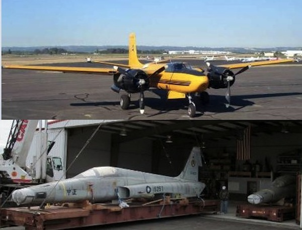 Airworthy plane swap: One Douglas A-26 Invader for two Northrop F-5s. (Image Credit: Classic Aircraft Aviation Museum)