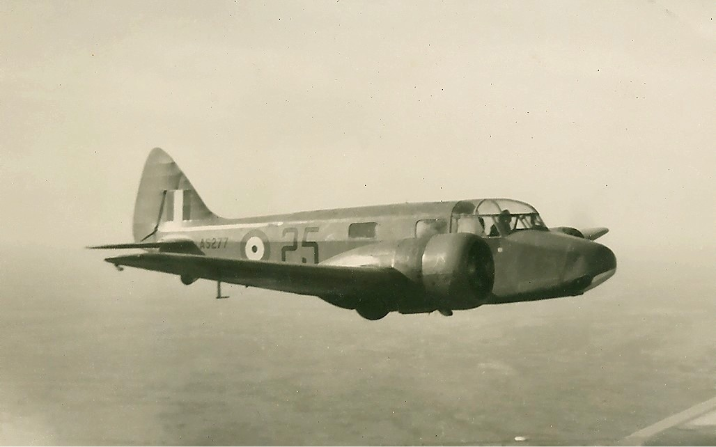 A vintage photograph of an Airspeed Oxford in flight (over Canada during WWII). The B-24 Liberator Memorial Fund is building one of these WWII training aircraft, virtually from scratch, to sit alongside their B-24 as testament to the bomber crew's story. (photo via Wikipedia)