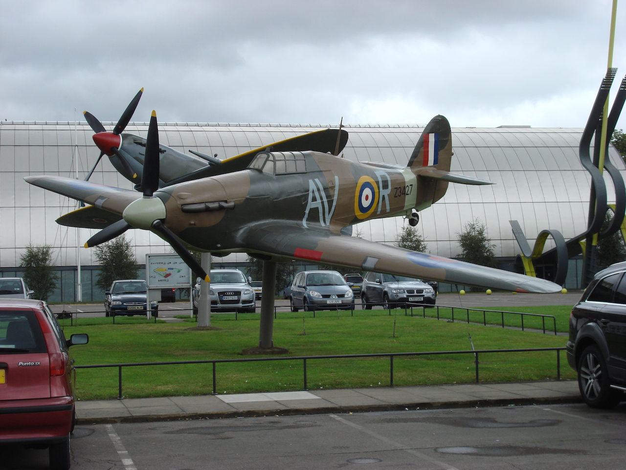Hurricane replica, RAF Museum, London A fibreglass replica of the Hawker Hurricane Mk II with the markings of No 121 (Eagle) Squadron. ( Image via Wikipedia)