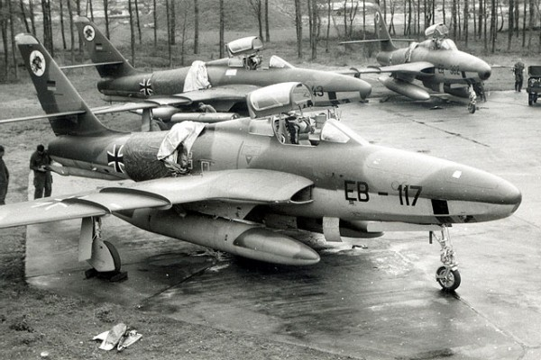 Three Luftwaffe's RF-84F of the AG 52 .(Image credit Luftwaffe)