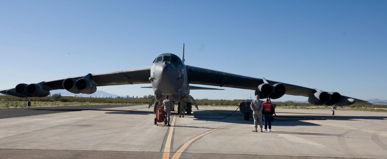 For the first time a B-52 is regenerated from Tucson's Boneyard. ( Photo by Davis Monthan Air Force Base)