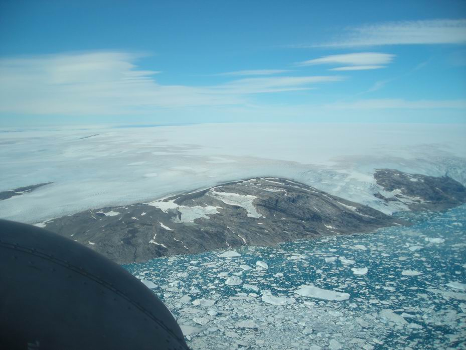 Greenland from the air. (photo via Ken McBride)