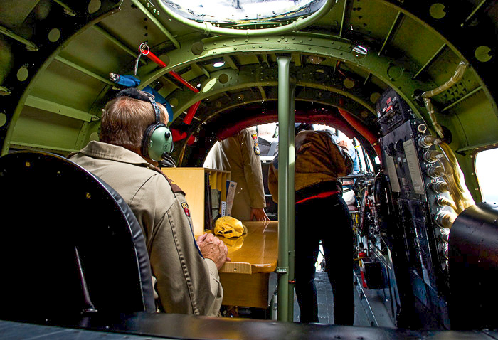 Inside the Lancaster's radio compartment. (photo by Peter Handley)