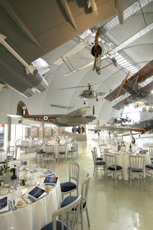 The exclusive Milestones of Flight hangar offers exclusive reception and dining opportunities for corporate guests.
