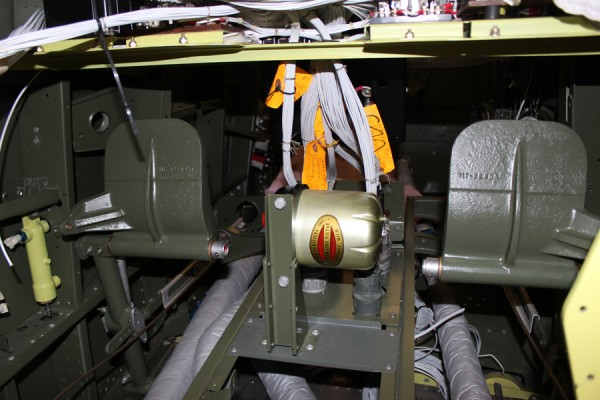 The left-hand set of rudder pedals installed, and with cables attached. (photo via Tom Reilly)