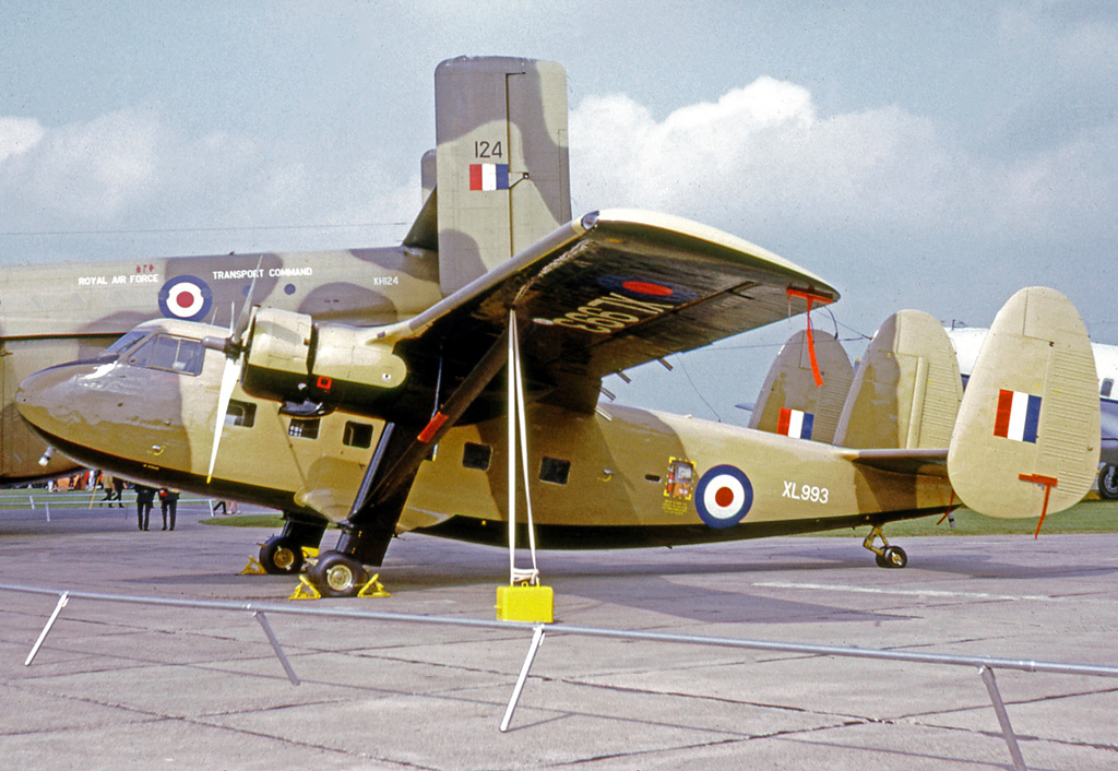 A period shot of a desert camouflaged, Royal Air Force Twin Pioneer. These aircraft served during British conflicts in Aden and elsewhere in the Middle East during the 1960s and early 1970s. (photo via Wikipedia)
